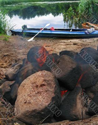 travel tourist sauna campfire