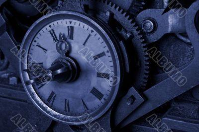 Antique grunge clock