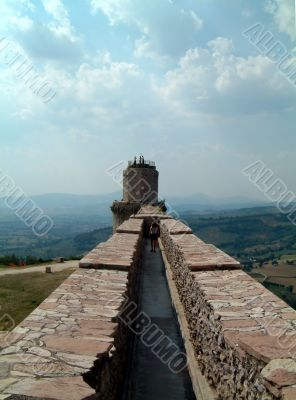 Assisi castle wall
