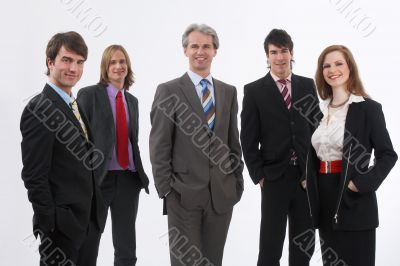 smiling businessteam