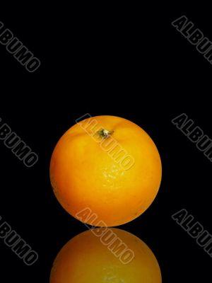 fresh and juicy orange on black