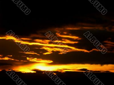 dawn golden sunrise