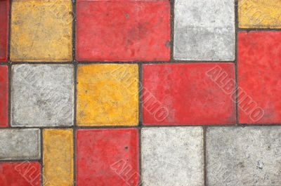 Colored paving slab texture #1