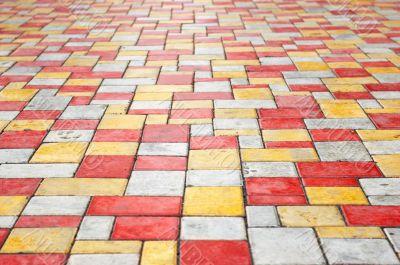 paving slab perspective background