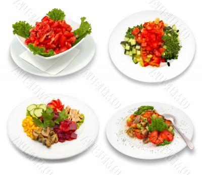 4 salad dishes