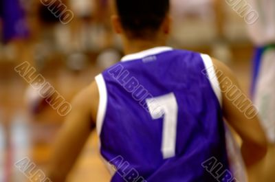 Basketball player in motion