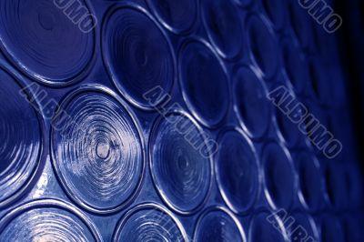 Blue Circular Glass