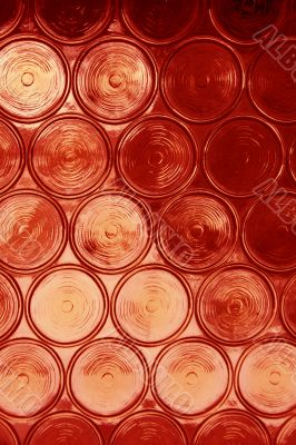 Red Circular Glass