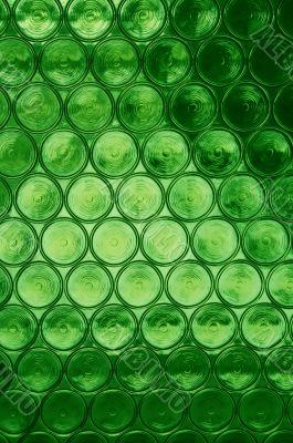 Green Circular Glass Window