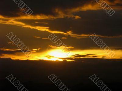 dawn golden sunrise valley