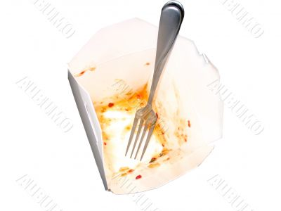 Empty Chinese Food Container