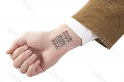 barcode on hand