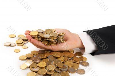 manager holding money