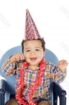 adorable boy celebrating your birthday