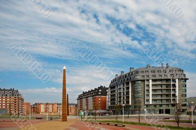 Modern apartments blocks
