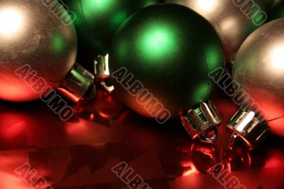 Green and Silver Baubles