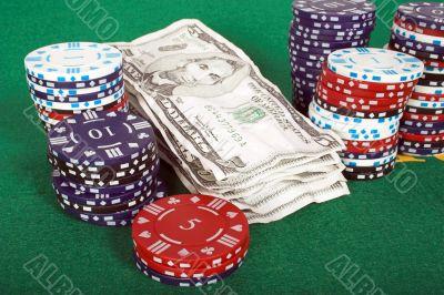 casino tokens and gambling money