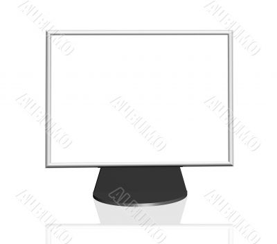 Blank computer tft screen