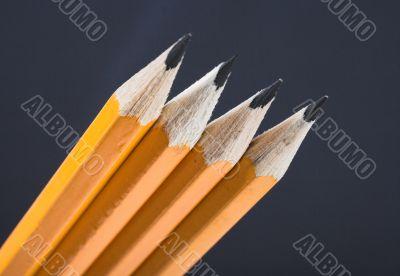 black pencils in perspective