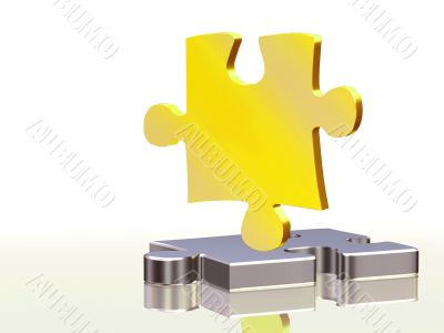 gold and silver puzzle pieces
