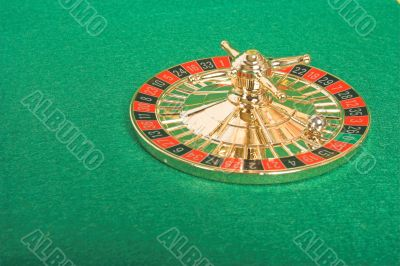 peculiar roulette on green felt