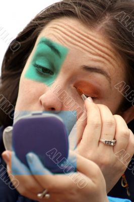 applying extreme makeup