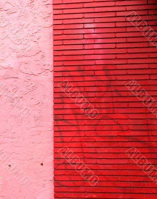 Red Brick Pink Stucco