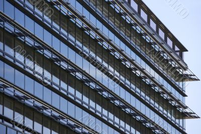 glass facade of a skyscraper