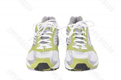 jogging shoes with detailed clipping path
