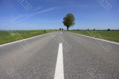 straight road wide