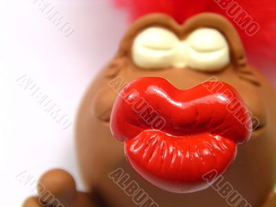 Lip of a kiss doll
