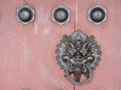 a door decoration of Chi lin Nunnery