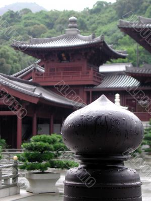 Chi lin Nunnery, a Buddhist center in Hong Kong