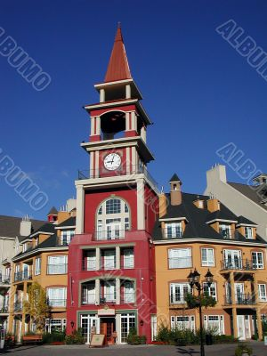 colourful building in Mont Tremblant, Quebec