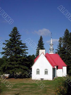 church at Mont Tremblant, Quebec (vertical)