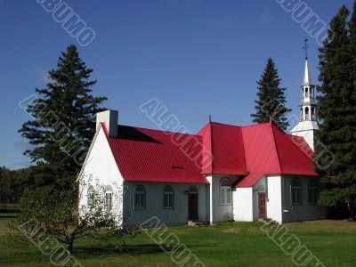 church at Mont Tremblant, Quebec (horizontal)
