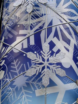 Snowflake in blue background (vertical)