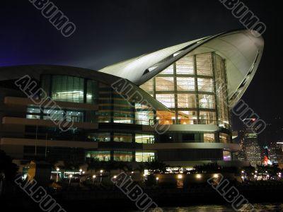 Night scene of architecture structure