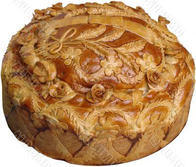 Isolated Ukrainian festive Bread