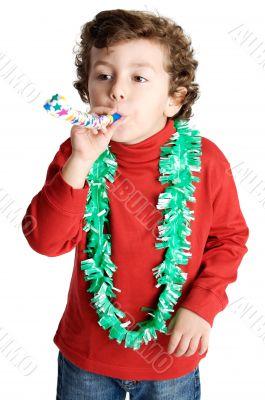 adorable boy celebrating a celebration
