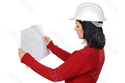 attractive young person architect