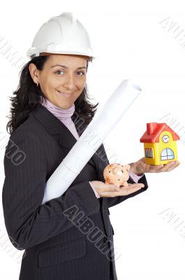 attractive lady architect