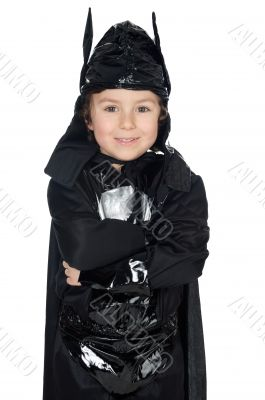adorable child disguised of bat