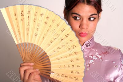 Geisha with fan