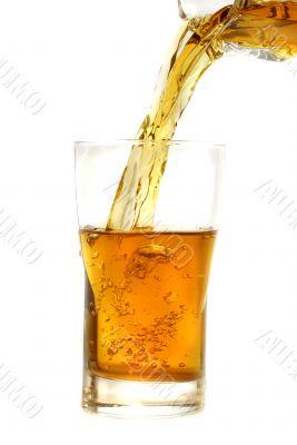 pouring fresh apple  juice