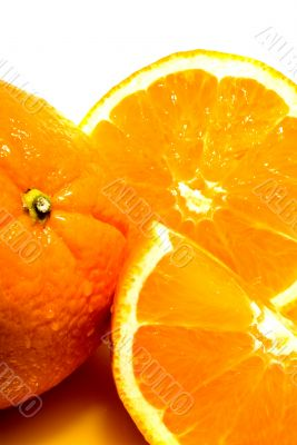 Background of juicy fresh sliced oranges