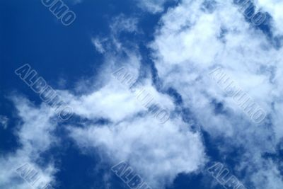 Clouds on sky background