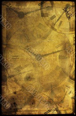 Vintage time collage