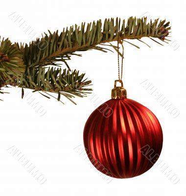 Red Ball Christmas Ornament