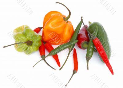 chili mix isolated